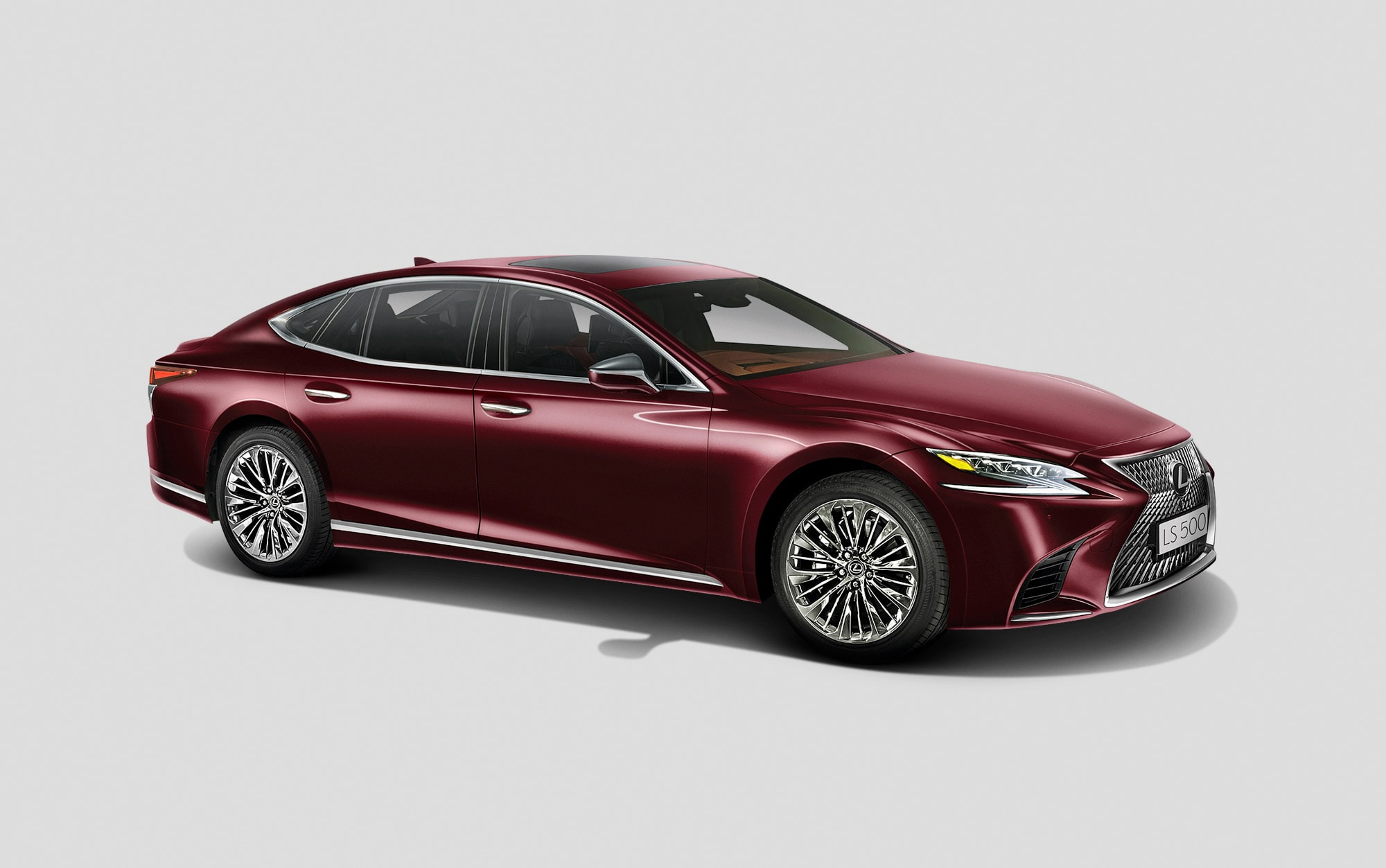 the all-new Lexus ls 500 luxury car photographed in studio using arri lighting with manual exposure for lexus south africa