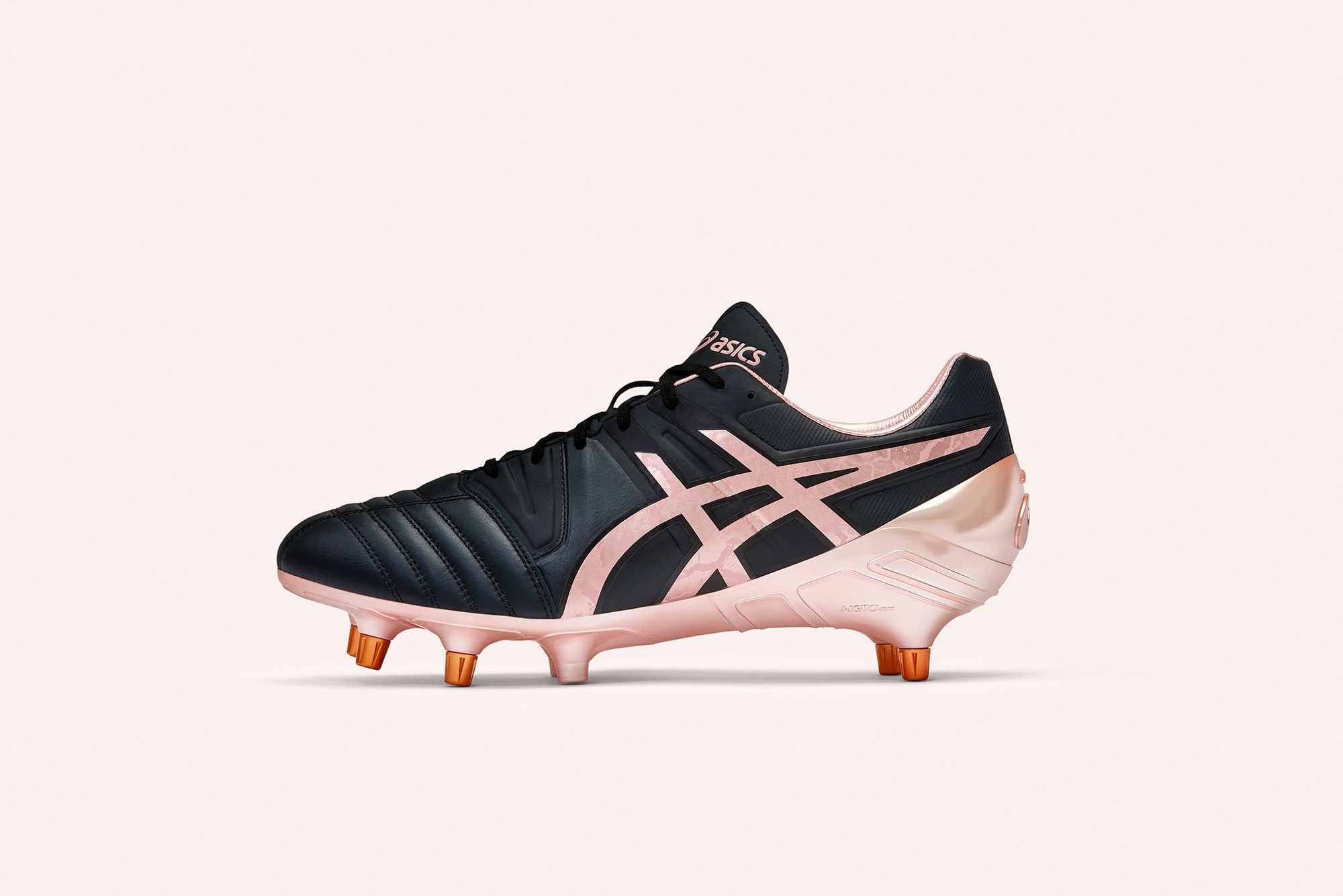studio photography of asics gel lethal rugby world cup rugby boot