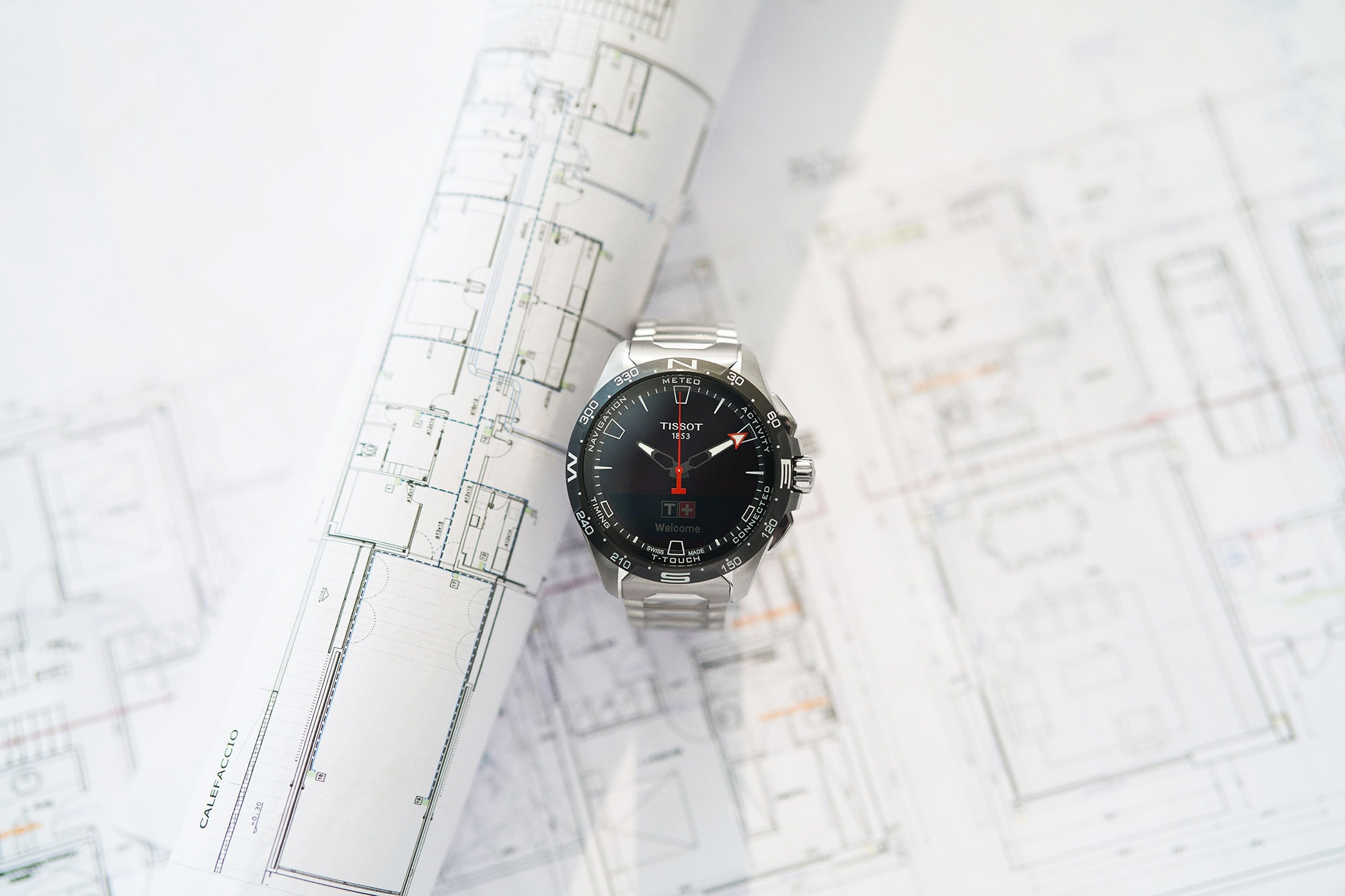 tissot t-touch watch photographed by smith and daniels