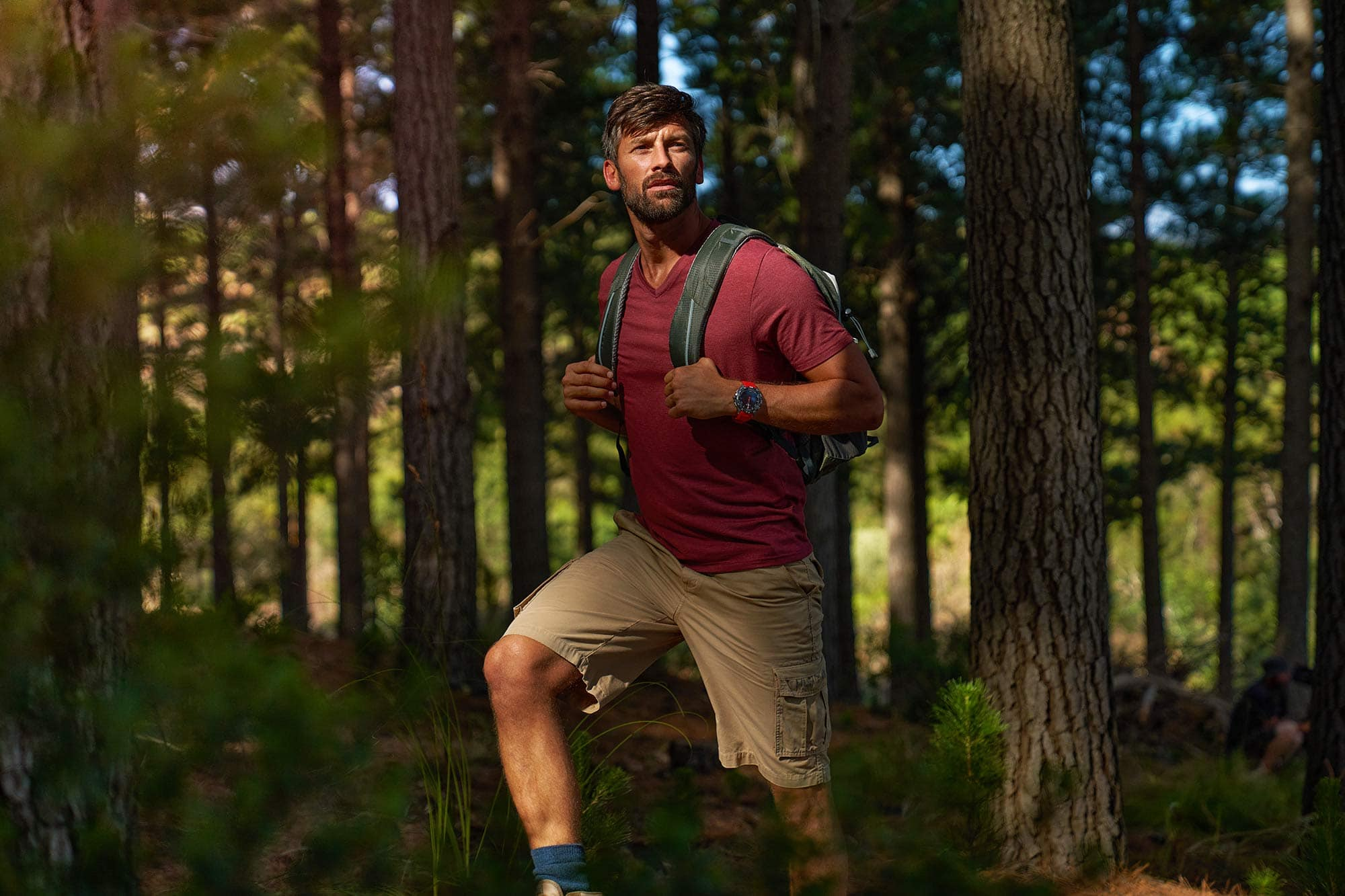 hiking & lifestyle product photography for tissot t-touch print campaign by smith and daniels