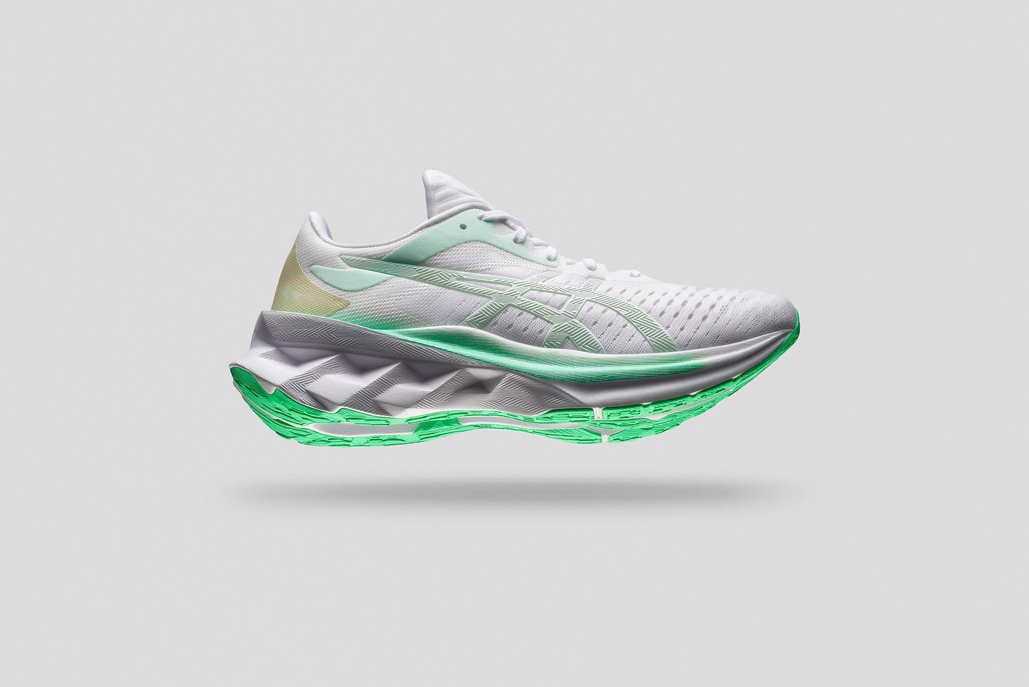 asics nova blast women's running shoe photos using the manfrotto product table and elinchrom lighting