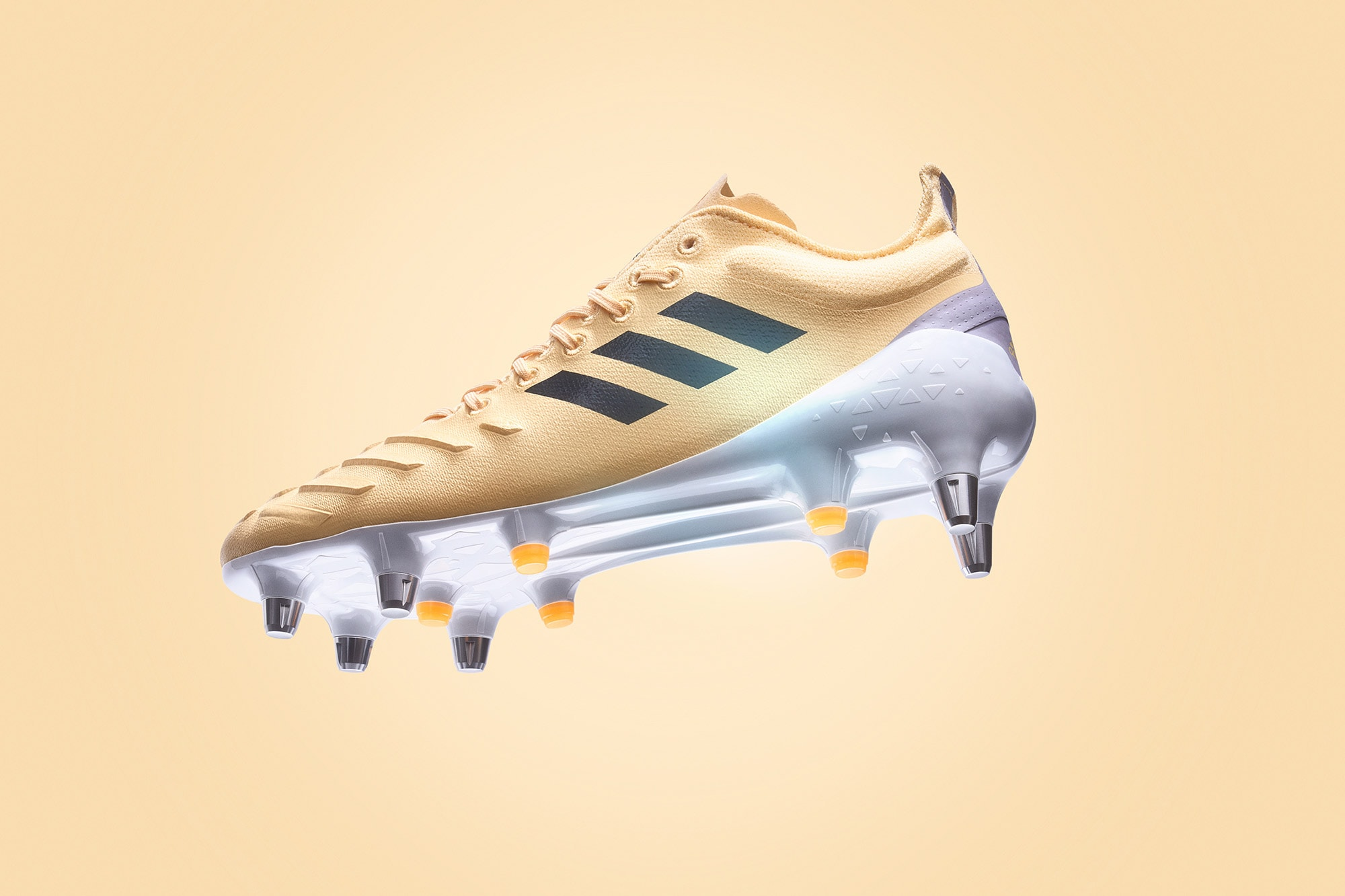 adidas predator xp soft ground rugby boot photographed in studio for adidas new zealand latest print campaign