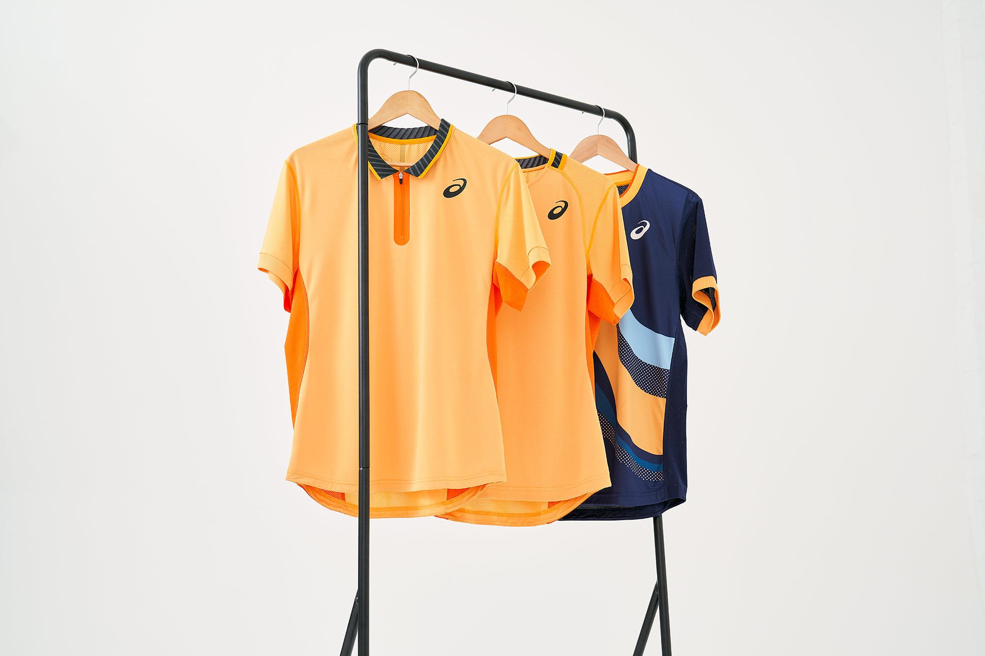 asics tennis clothing photographed in studio using profoto lighting