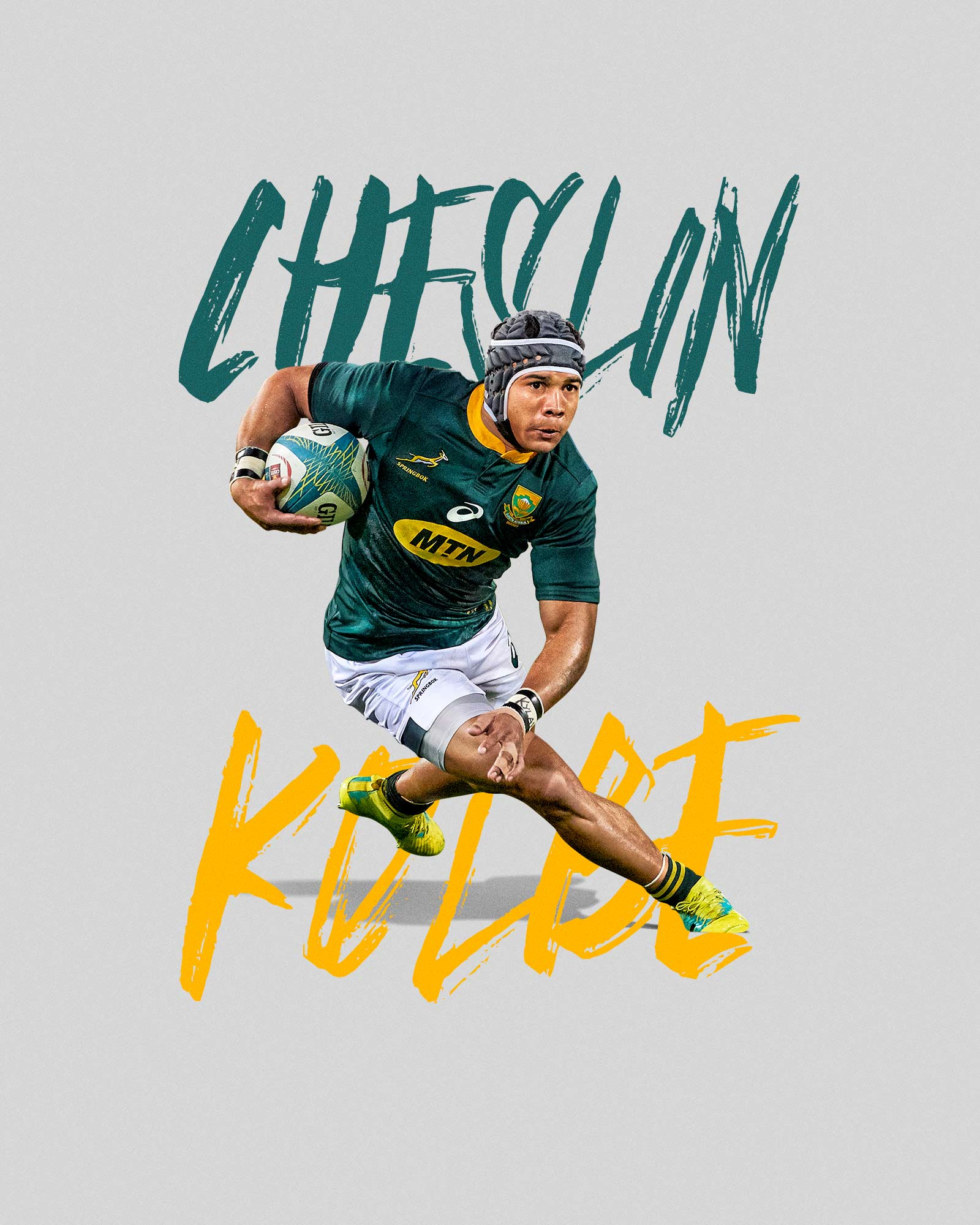 springbok rugby athlete cheslin kolbe photographed captured with nikon d850 and 400mm lens during rugby world warm up game